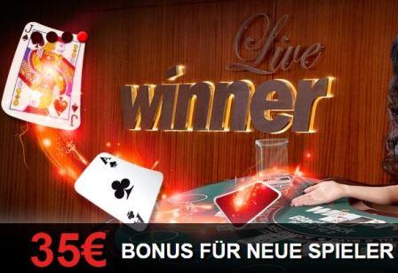 35€ Winner Bonus Live Casino